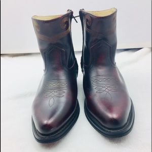 Saddle Tramp Cordovan Leather Cowboy Western Boots